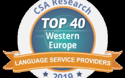 Amaïa et le groupe Tradutec à la 14ème place du TOP 40 européen